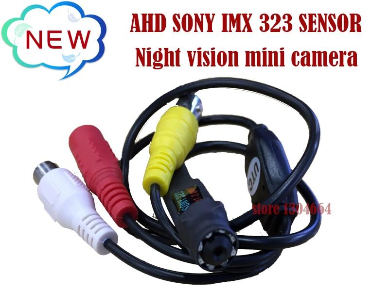 NEW AHD 2MP/1080P SONY IMX 323 Sensor Mini Analog High Definition Surveillance  infrared night vision CCTV Camera Free shipping new ahd sony sensor 1080p cat eye door