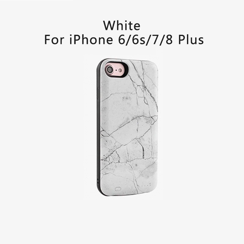 detailing 523bf 463b2 US $22.98 |NS Marble Battery Charger Case for iPhone 6/7/8 3000mAh/6000mAh  Portable External Battery Power Bank Charger for iPhone 6/7plus-in Battery  ...