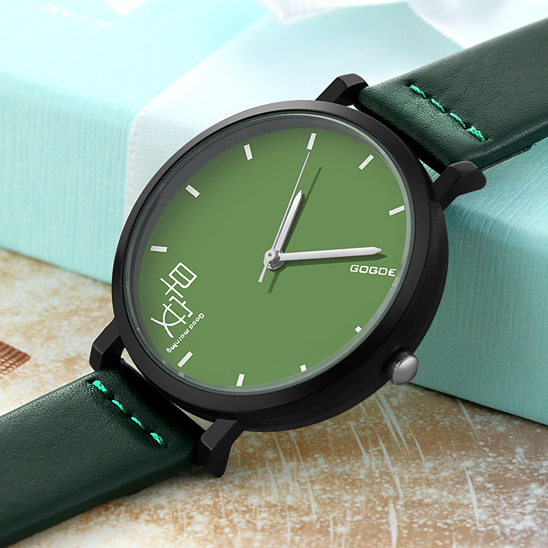 SOXY GOOD MORNING GOOD NIGHT Fresh New Style Fashion Casual Ladies Watch Couple Pointer Leather Wrist Quartz Watch Hot Sale
