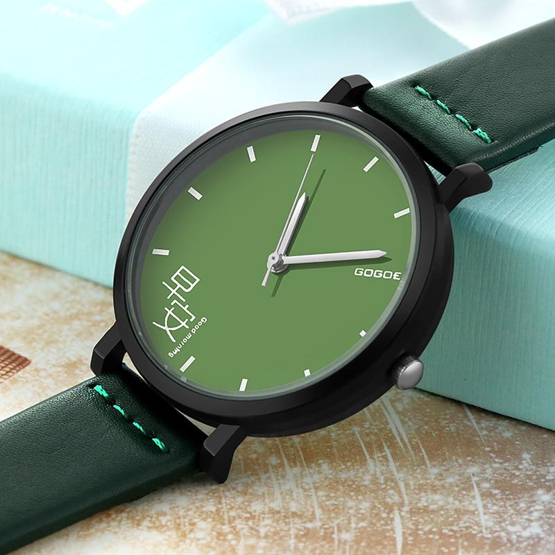 SOXY GOOD MORNING GOOD NIGHT Fresh New Style Fashion Casual Ladies Watch Couple Pointer Leather Wrist Quartz Watch Hot Sale