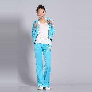 Image 5 - Chándales de tela de terciopelo para mujer, traje de terciopelo, chándal, Sudadera con capucha y pantalones, talla S XXL, Primavera/otoño 2020