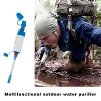 Portable ABS Water Filter Camping Hiking Purifier Cleaner Multifunction Outdoor Wild Drinking Safety Survival Tool B2Cshop