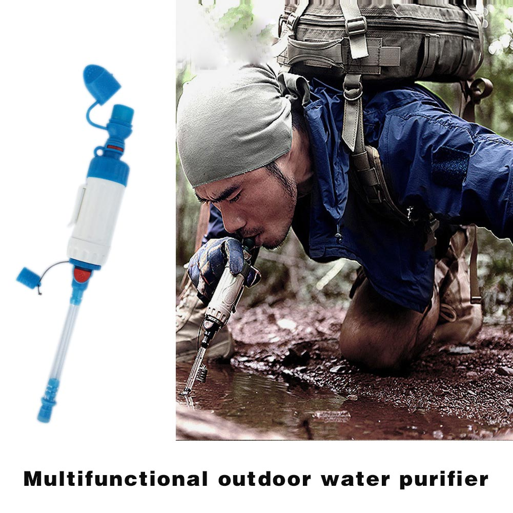 Portable ABS Water Filter Camping Hiking Purifier Cleaner Multifunction Outdoor Wild Drinking Safety Survival Tool B2Cshop fire maple sw28888 outdoor tactical motorcycling wild game abs helmet khaki