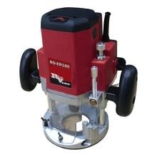 Фрезер электрический RedVerg RD-ER180 (Мощность 1800 Вт, количество оборотов 11500-22000 об/мин, цанга 8мм/10мм/12мм, ход фрезы: 60мм, коробка, направляющая линейка, копировальная втулка)