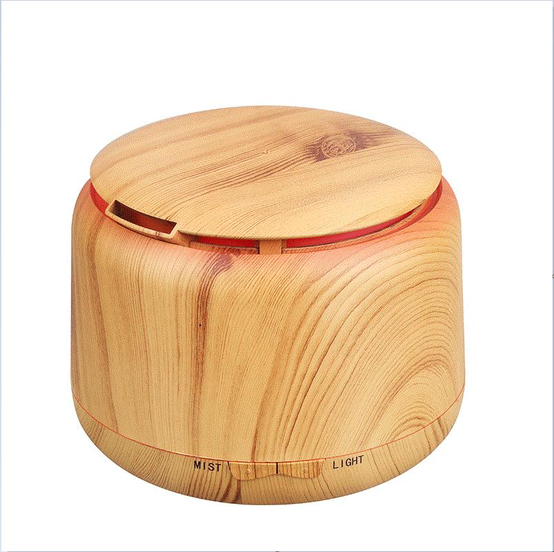300ml Ultrasonic Humidifier Aroma Essential Oil Diffuser Wooden Grain Cool Mist Humidifier aromatherapy diffuser With Color LED цена и фото