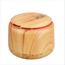 300ml Ultrasonic Humidifier Aroma Essential Oil Diffuser Wooden Grain Cool Mist Humidifier aromatherapy diffuser With Color