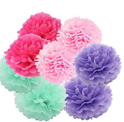 Art craft tissue paper flower 8pcs 20cm decorative hanging flower art craft tissue paper flower 8pcs 20cm decorative hanging flower balls diy paper pom poms for wedding birthday party decor in artificial dried flowers mightylinksfo