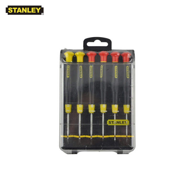 Stanley 6 pezzo di precisione magnetico phillips e scanalato mini set di cacciaviti piccolo kit di cacciaviti micro driver tool kit