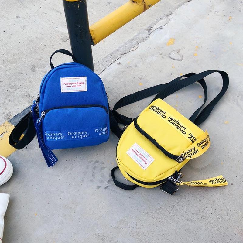 Fashion Letter Print Women Nylon Mini Backpack For Teenage Girls Shoulder Bag Travel Pack Female Casual Crossbody Bags Rucksacks #1