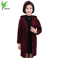 High Quality Autumn Women Knit Sweater New Middle Aged Female Cardigan Jackets Plus Size Thicker Mother