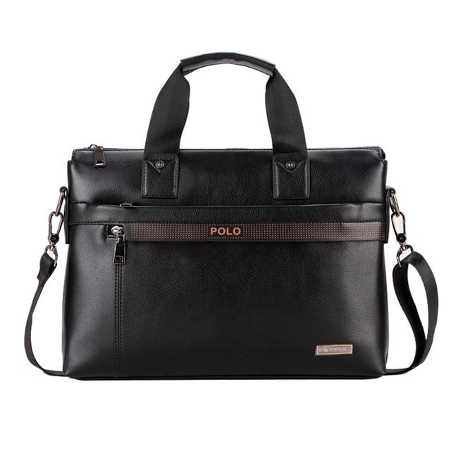 Fashion Brand PU Leather Men's Handbags Designer Man Zipper Handbag Dress Messenger Bag for Men Brown Black Color XB114NEW