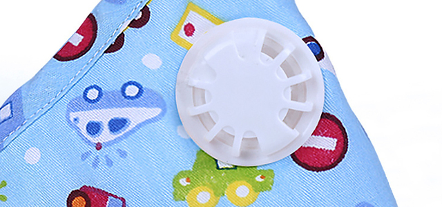 6pcs Cartoon Children PM2.5 Mouth Mask Kids Breath Valve Anti Haze Breathable Mask Anti Dust Mouth-Muffle Respirator Face Masks 4