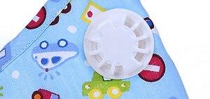 Image 5 - 6pcs Cartoon ילדים PM2.5 פה מסכת ילדים נשימת שסתום אנטי אובך מסכה נושמת אנטי אבק פה מופל הנשמה פנים מסכות