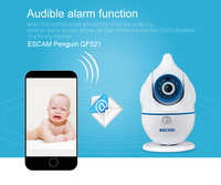 ESCAM QF521 HD WIFI Wireless CCTV Two Way Speacker Built In Microphone PT Baby Monitor IP