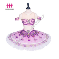 Adult Professional Ballet Tutu Two pieces Oriental Arabic Top Tutu Skirt La Bayadere Tutu Girls Ballet Stage Costume Lilac B1294