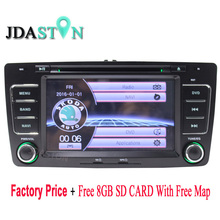 JDASTON 7 INCH 2 Din Automobile Multimedia DVD Participant For Skoda Octavia 2005-2008 2013 With GPS Navigation RDS Radio Stereo Audio Map