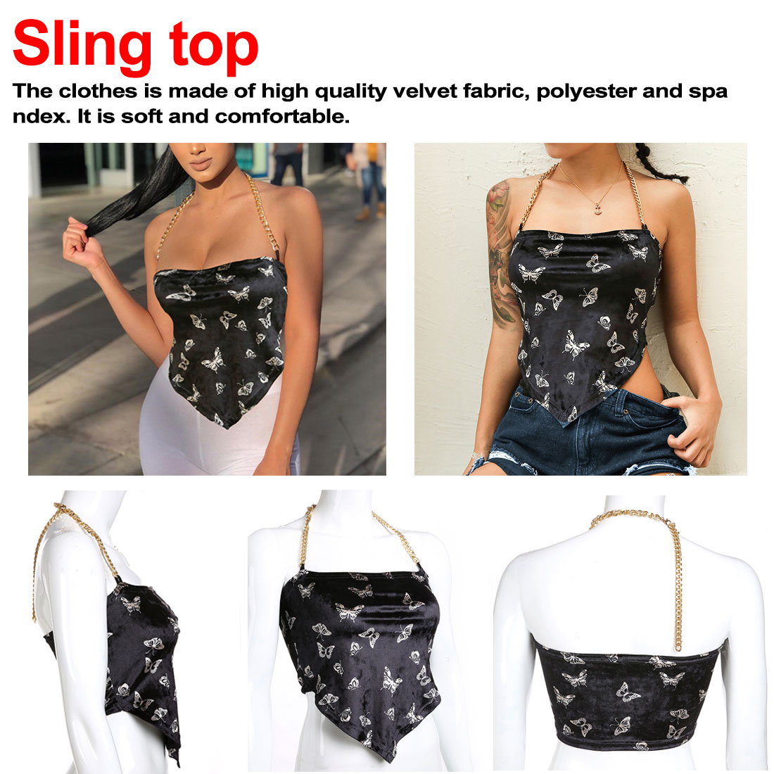 sexy metal chain PU hollow tank top women new arrival patchwork bandage nightclub backless halter
