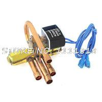 8mm 9.7mm Dia Tube 1P Power 4 Way Reversing Valve Solenoid for Air Conditioning and 2P 3P 5P