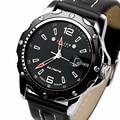 2016 nova marca Julius homens esportes relógios homens pulseira de couro de quartzo exército militar de pulso de água relógio