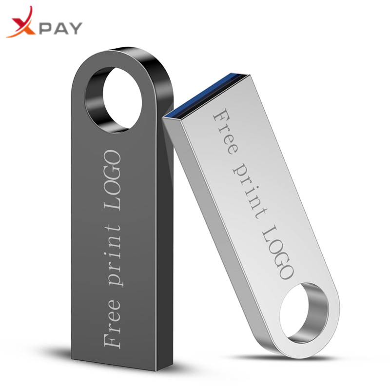 New 2.0 usb flash drive metal u disk 128GB Waterproof pen drive 64GB flash drive actual capacity pendrive 4GB 8GB 16GB Free LOGO-in USB Flash Drives from Computer & Office