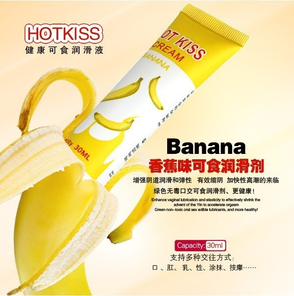 Hot Kiss Banana Flavor body lubricating oil male female of edible anal sex
