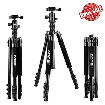 Zomei Professional Q555 Camera tripod Lightweight Aluminum Camera Tripod Stand with Ball Head for Canon Nikon Sony DSLR camera tiyiviri mini ball head 1 4 mount for camera tripod ballhead for nikon canon dslr camera dsr mount stand for camera tripod