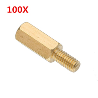 100Pcs Set M3BH3 M3 10mm 6mm Brass Male Female Hex Nut Screws Standoffs Support Spacer Pillar