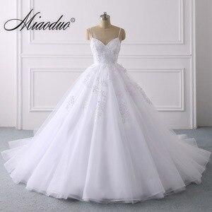 Image 1 - Summer Lace Wedding Dress 2020 Spaghetti Straps Plus Size Bridal Dress Simple Vestidos de Noiva свадебные платья for Women