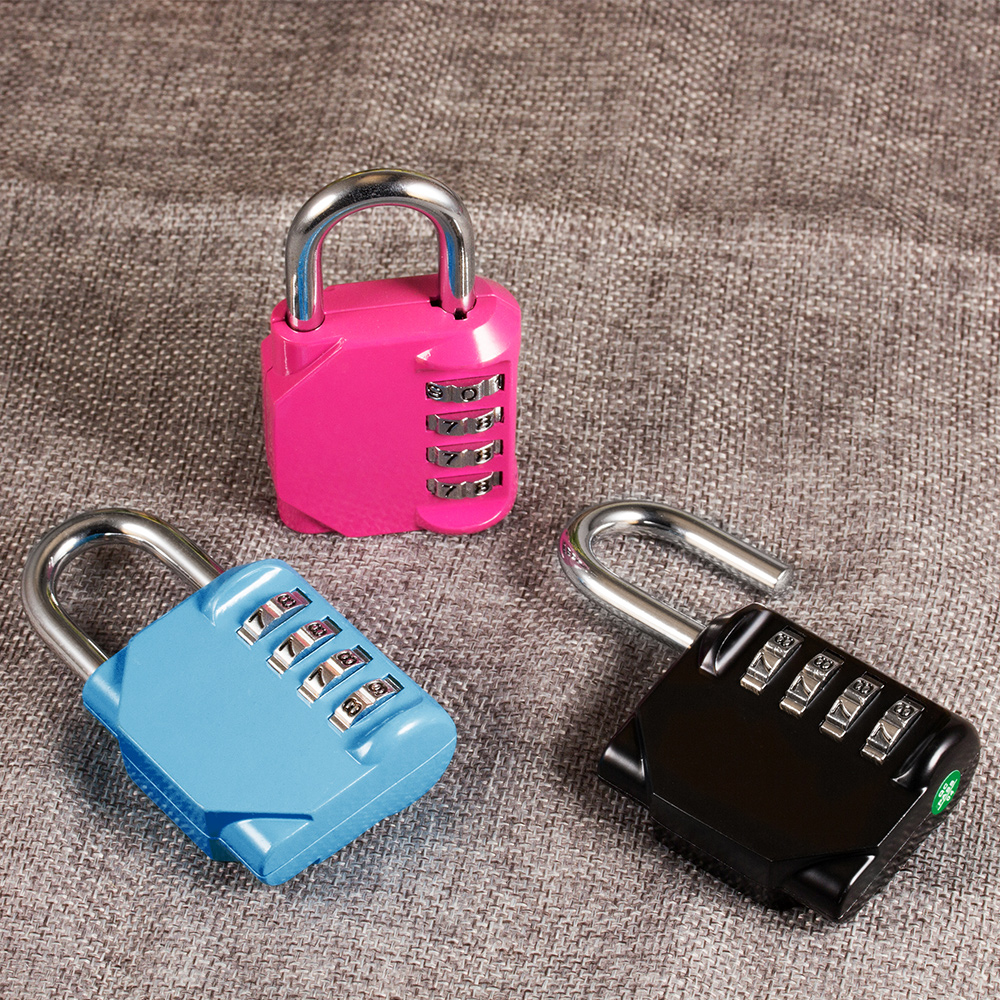 High Quality Resettable 4 Digit Locks Waterproof Combination Password Lock For Travel Luggage Suitcase Code Padlock Customs Lock