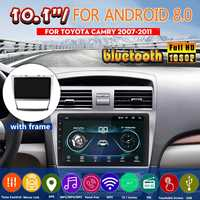 10.1 for Android 8.0 GPS Car Radio stereo Player Head unit For Toyota Camry 2006 2007 2008 2009 2010 2011 Steering wheel Contro