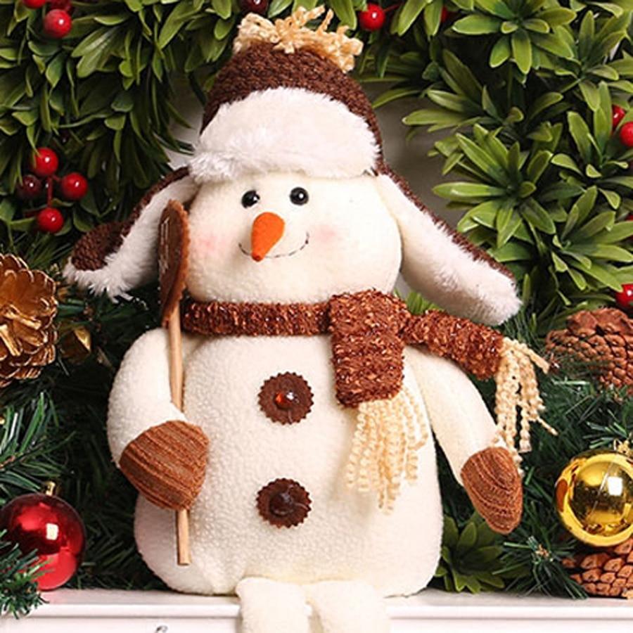 Doll Stuffed Christmas Snowman Ornaments Craft Kawaii Plush Brinquedo Menina Soft Toys Knuffel Christmas Gifts For Kids 80G0417