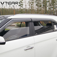 For Creta Ix25 Window Visor ABS Awnings Shelters Cover Rain Gear Exterior Body Decoration Products Accessories