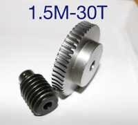 1 juego 1,5 M-30 T relación de reducción: 1: las piezas de transmisión del reductor del gusano de acero 30 45 llevan agujero del engranaje: 10mm agujero de la varilla: 10mm