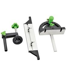Aluminum Miter Gauge And Box Joint Jig Kit with Adjustable Flip Stop Woodworking Tool стоимость