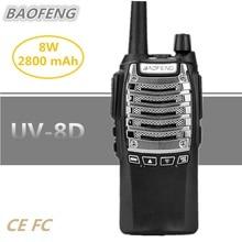 BAOFENG UV-8D Walkie Talkie 10KM UHF Two Way Radio 8W 2800mAh Ham Mobile