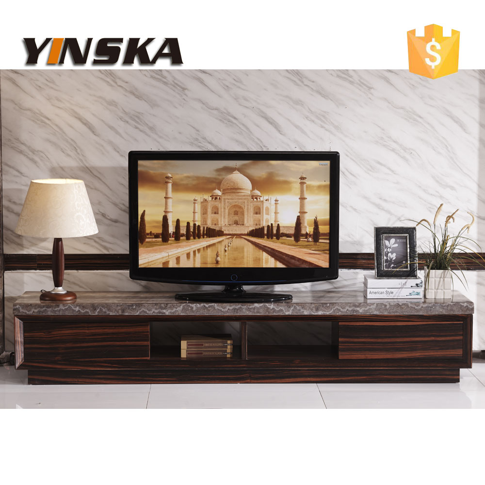 Economical Italian Design Lcd Plasma Marble Top Tv Stand Modern Wooden Table