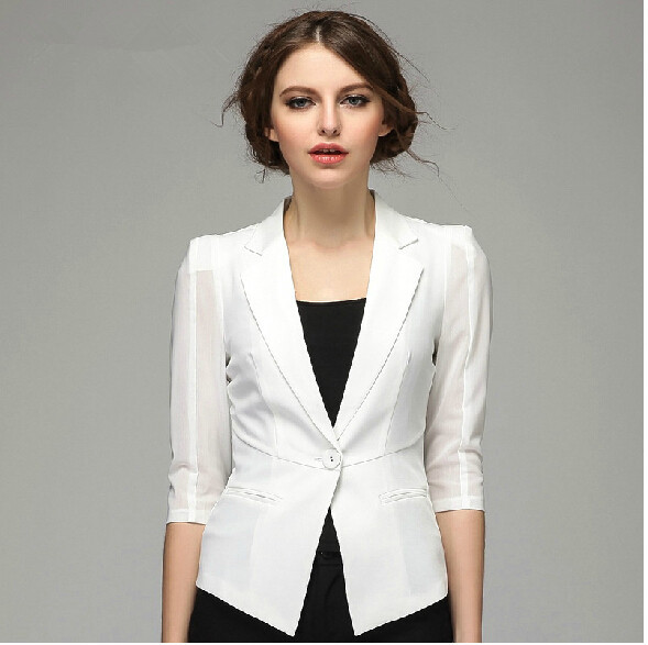 White Blazers For Women Photo Album - Reikian