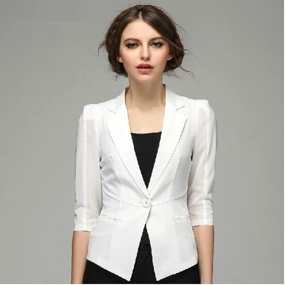 Plus Size Women Blazers And Jackets 2015 Summer Thin Slim