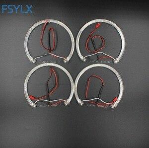 Image 5 - FSYLX LED עיני מלאך עבור BMW E46 halo אור שגיאת משלוח SMD מלאך עין E36 E38 E39 E46 מקרן לבן צהוב אדום כחול מלאך עיניים