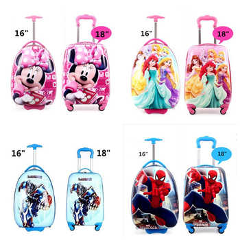 New Children's Hardside Luggage  Cartoon Suitcase Boy Boarding Rolling Luggage Student ABS  trolley luggage for kids Wheeled Bag - DISCOUNT ITEM  18% OFF All Category