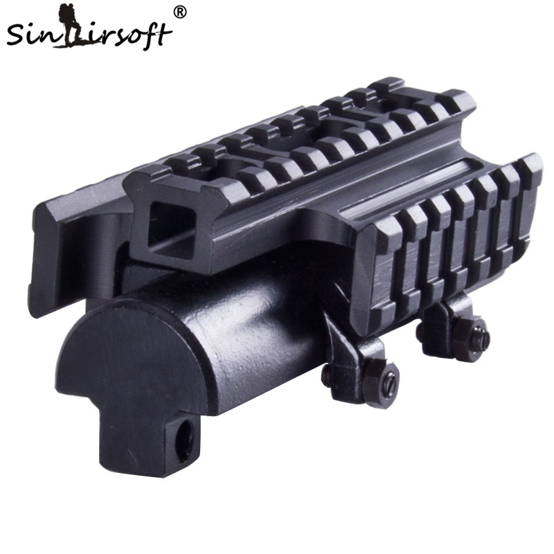 SINAIRSOFT New Gen SKS Tri-Rail Tactical See-thru Receiver Cover Shooting Paintball Hunting Scope Mount  MNT-T640TR