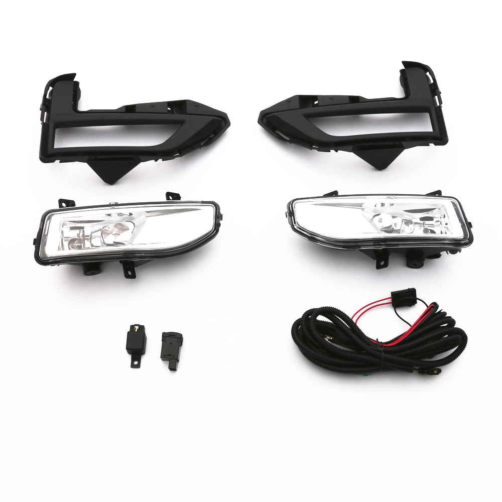 2xFront Fog Lamp Kit Car Styling Accessories For NISSAN ROGUE X-TRAIL 2017 2018 fog light lamp kit for nissan rogue x trail x trail 2014 2015 2016