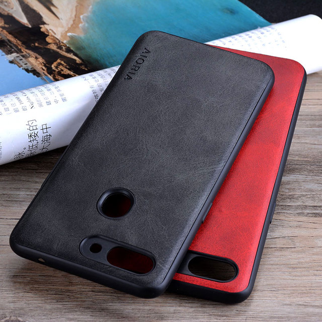 save off d7e08 2ae51 US $3.49 30% OFF|for OPPO R15 Pro case Luxury Vintage leather Skin cover  hoesje phone case for oppo r15 pro coque funda capa business style-in  Fitted ...