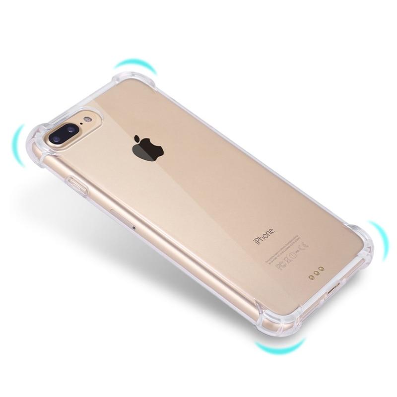 (10 pieces / lot) Transparan Tutup Kasus Untuk iPhone 7 7 Ditambah - Aksesori dan suku cadang ponsel - Foto 5