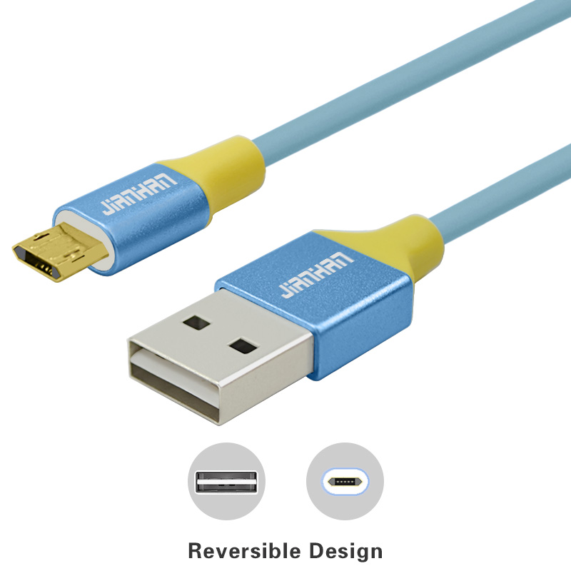 Reversible Micro USB Data Cable Charger Data Sync and Fast Charging Double Side USB for Xiaomi,Samsung Galaxy,Motorola CellPhone