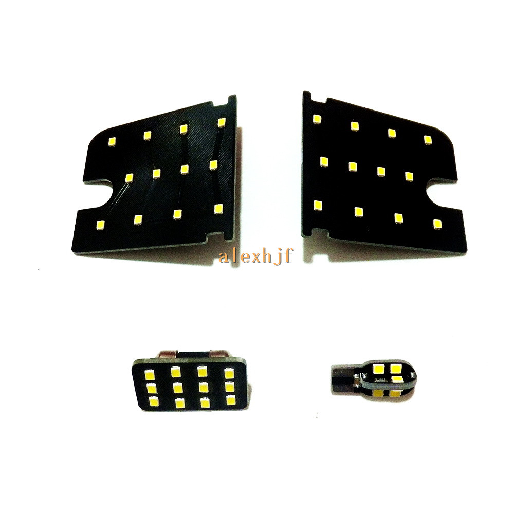 July King Car LED 6000K White Interior Reading Lights Case for Mitsubishi ASX Outlander Sport, 2835SMD 48LEDs, 4pcs for mitsubishi asx lancer 10 9 outlander pajero sport colt carisma canbus l200 w5w t10 5630 smd car led clearance parking light