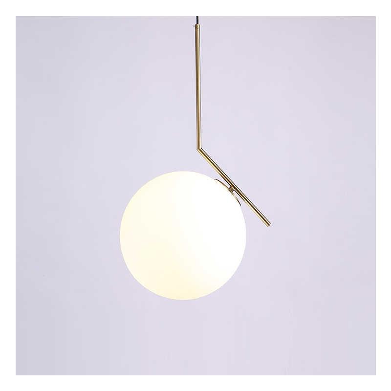 Современный скандинавский дизайнер стеклянный шар золотой белый подвесной светильник для столовой гостиной Лофт Декор кухня спальня
