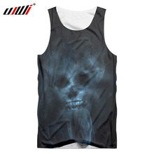 UJWI brand 2019 new mens souls Skull 3D printing O-ring sleeveless casual fashion fitness apparel Tank Tops factory outlet