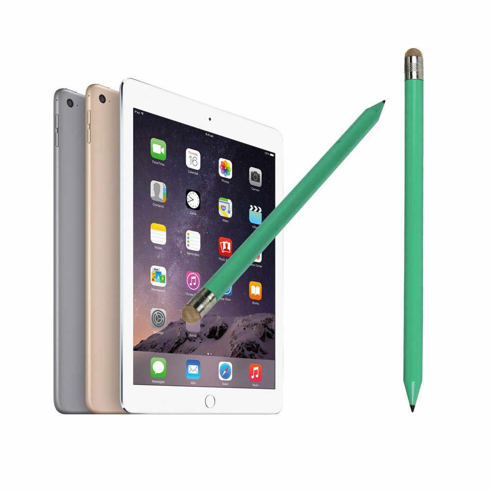 New2017 ใหม่ 2In1 ดินสอสไตล์ Universal Capacitive ปากกา Stylus ปากกาสำหรับแท็บเล็ต ICA ปากกา caneta หน้าจอสัมผัส