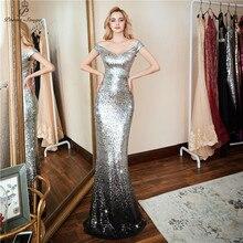 Wiersze piosenki nowa formalna strona elegancka suknia wieczorowa vestido de festa seksowna luksusowa srebrna długie z cekinami szata longue suknie na bal maturalny